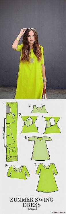 Vestido de patrón simple (Bricolaje) / patrones simples /