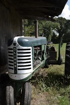 My grandpa would say this tractor is the wrong color (should be International brand red) but still, this has a lot of history.