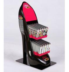 Miss Bic lighter case shaped like high heel
