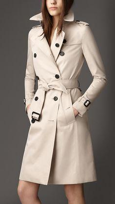 Someday... - Langer Trenchcoat aus Baumwollgabardine | Burberry
