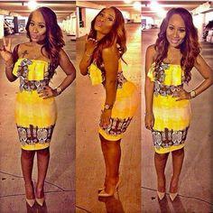 Yellow sunshine  African Fashion