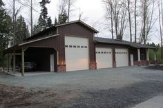 Garage/RV/Office combo in Snohomish, WA. Constructed by Spane Buildings of Mount Vernon, WA.