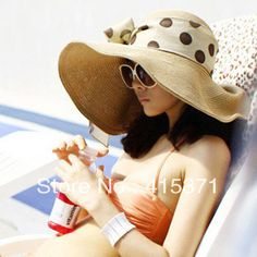 Aliexpress.com : Buy New Korean style beach big sun shading hat summer women's straw hat new arrival floppy sun hat for women millinery free...