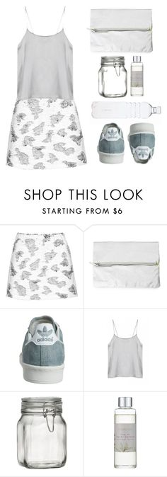 """""""Gray 'n' White"""" by elliedella ❤ liked on Polyvore featuring Topshop, Rut m.fl., Crate and Barrel and Shabby Chic"""