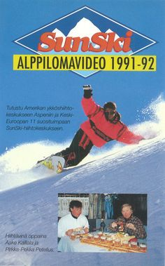 SunSki matkoihin on 90-luvulla päässyt tutustumaan VHS-kasetin avulla