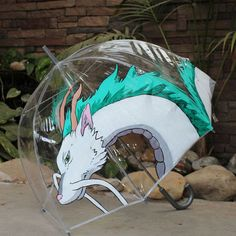 This handmade Haku, painted on an umbrella: 23 Of The Most Gorgeous Pieces Of Miyazaki Fan Art Studio Ghibli Art, Studio Ghibli Movies, Spirited Away Haku, Bubble Umbrella, Anime Gifts, Film D'animation, Girls Anime, My Neighbor Totoro, Anime Merchandise