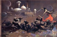 Frazetta. This is what John Carter is supposed to look like.