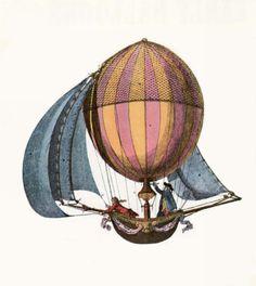 vintage hot air balloon - Buscar con Google