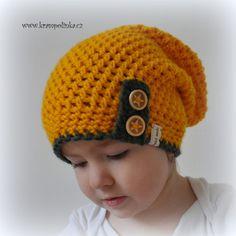 Dospělácká homeleska Tulip – Krampolínka Crochet Kids Hats, Knit Crochet, Crochet Things, Caps Hats, Headpiece, Tulips, Diy And Crafts, Beanie, Knitting