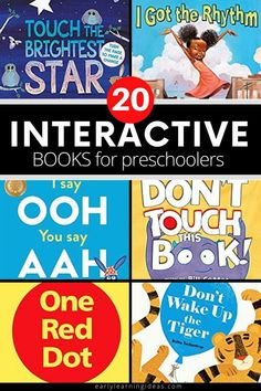 Find the best interactive books for your kids in preschool, pre-k, TK, and kindergarten. These hands-on books will get your kids excited and engaged. When you are looking for ways to make storytime fun for preschoolers, try these interactive books that include touch and feel books, lift-the-flap, and other books that require participation. Perfect for your classroom library, book center, and will work well for circle time or storytime. Interactive Books For Preschoolers, Preschool Activities At Home, Circle Time Activities, Preschool Age, Preschool Books, Interactive Learning, Hands On Activities, Literacy Activities, Touch And Feel Book