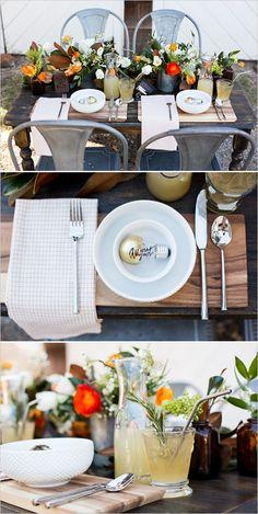 Rustic and industrial wedding decor ideas. #weddingchicks Captured By: Lightbox Photography http://www.weddingchicks.com/2014/06/20/funky-braided-wedding/