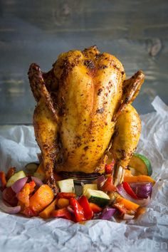 Beer Can Chicken Recipe Beer Can Chicken, Canned Chicken, Crispy Chicken, 7 Course Meal, Can Chicken Recipes, Dude Food, Main Meals, My Favorite Food, Food Inspiration