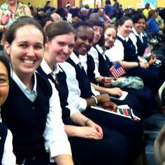 Postulants and Novices of the Daughters of St. Paul at the Family Faith Conference in Boston