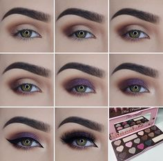 Beautiful deep purple tutorial using the new Too Faced Chocolate Bon Bon palette