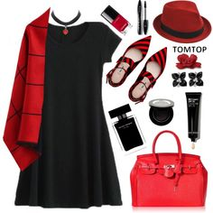 How To Wear TOMTOP+ 29 Outfit Idea 2017 - Fashion Trends Ready To Wear For Plus Size, Curvy Women Over 20, 30, 40, 50
