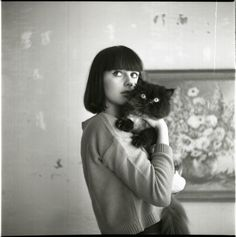 I think I found this on Miss Moss, but I can't remember who took it. Crazy Cat Lady, Crazy Cats, Black Bob, Black And White, I Love Cats, Cute Cats, Adorable Kittens, She And Her Cat, Cat People