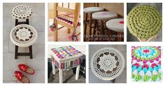 If you are looking for patterns to bring your home into style, here are some Crochet Stool Cover Free Patterns to brighten up your stools and add some fun.