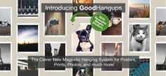 GoodHangups - Magnetic Hanging System for Posters, Prints, and More