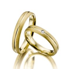 Verighete ATCOM ATC1095 din aur galben cu o greutate de 9 grame.