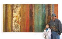 "Saatchi Art Artist Mike Elsass; Painting, ""Mike and his granddaughter in front of a new painting"" #art"