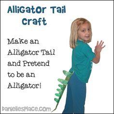 Alligator Tail Craft for preschool children from www.daniellesplace.com