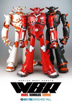 "First Worlds Best Robots release under 3AGO! Mars, Romulus and Remus are 25"" tall. http://www.worldofthreea.com/threea-production-blog/iagzghc9x5j3l8z0jv1umrqx2acxef #threeA #WorldOf3A #AshleyWood #WorldsBestRobots #WBR #3AGO #Bambalandstore #artpiece #toy #actionfigure #toyplanet #toycommunity #toys #hobby #toycollector #art #collectibles #vinyl #designertoys #toyphoto #toyphotography #collecting #toylife"