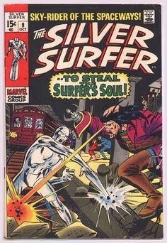 Rare Vintage 1969 Marvel Comics Silver Surfer issue 9 Silver Age 1960's Comic Book in Very Good-Fine Condition/John Buscema Art: Marvelmania... $29.99