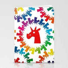 Color Me Rainbow Unicorn Stationery Cards