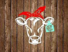 Cow Bandanna with Monogram Ear Tag Decal, Livestock Decal, Rustic Car Decal, Country Girl Decal, We Car Monogram, Monogram Stickers, Wall Stickers, Window Decals, Vinyl Decals, Wall Decals, Wall Vinyl, Wall Art, Country Car Decals