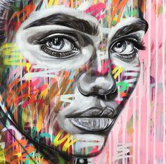 Close Up Of Beautiful Art (girl) By Ant Carver Distortion Art, Contemporary Art Artists, Gcse Art Sketchbook, Hope Art, Make Up Art, Expressive Art, A Level Art, Art N Craft, Graffiti Art