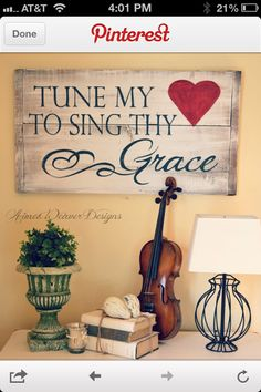 I could recreate this...Tune My Heart to Sing Thy Grace