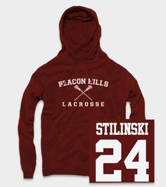 Stilinski Teen Wolf Beacon Hills Lacrosse Hoodie This is a high quality hoodie made from 50% Cotton & 50% polyester.  These hoodies are preshrunk.