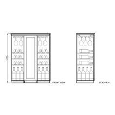 Modesto Brown Bar Cabinet by Baxton Studio by Baxton Studio | Dry ...