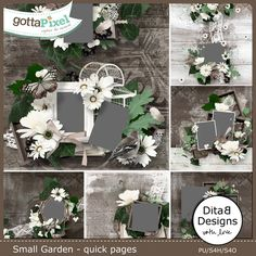 Small Garden - quick pages :: Quick Pages :: Projects :: Gotta Pixel Digital Scrapbook Store by DitaB Designs $4.99