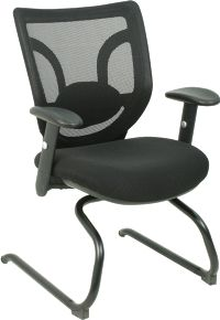 Dsa Kb 8901c Is A Mesh Back Guest Chair With Lumbar Support Office Chairs Seating