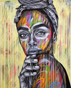 Another new painting currently on show until May. Original photo by of 📸 by A Level Art Sketchbook, Contemporary Art Artists, Art Alevel, Identity Art, Human Art, Animal Paintings, Face Art, African Art, Art Studios