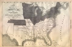 Here's a map of the states that were against and pro slavery. The southern colonies were pro slavery and the northern colonies were against slavery. Some of slavery helped the northern colonies because they didn't want slavery! American Civil War, American History, Missouri Compromise, Mason Dixon Line, Georgie, Southern Heritage, Confederate States Of America, Old Maps, Us History