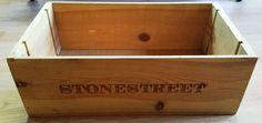Stonestreet Wood Wine Box Vineyard Winery 1995 Merlot  22 in by 7.5 in by 13 in  #StoneStreet