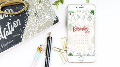¡El CHRISTMAS SPIRIT está encendío! Llegó el Wallpaper Calendar para el mes de diciembre, just in time para comenzar el mes.