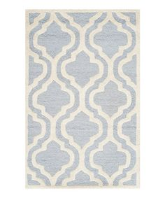 Take a look at this Light Blue Acadia Wool Rug on zulily today!