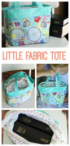Little Fabric Tote Tutorial