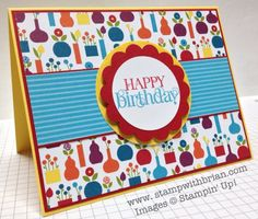 Curly Cute, Summer Smooches Designer Series Paper, birthday card, Stampin' Up!, stampwithbrian.com