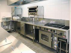 restaurant kitchen We are Supplier, Manufacturer, - Restaurant Kitchen Equipment, Restaurant Kitchen Design, Bakery Kitchen, Thai Restaurant, Kitchen Set Up, Kitchen Items, Kitchen Layout, Milanesa, Small American Kitchens