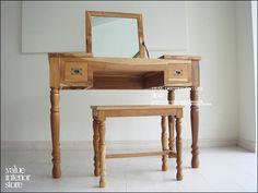 アンティーク V_Sチークドレッサー&スツール NA 鏡台 テーブル デスク 無垢 Antique chair ¥107500yen 〆04月10日