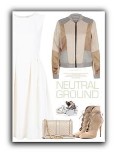 """Neutral"" by cinnamonbelle on Polyvore featuring Gianvito Rossi, ADAM, Rebecca Minkoff, River Island and Alexis Bittar"