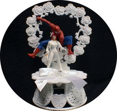 Spiderman Mary Jane Super Hero Wedding Theme U by YourCakeTopper
