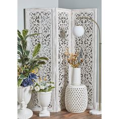 Decorative Room Dividers, Wooden Room Dividers, Decorative Screens, Casa Hotel, 4 Panel Room Divider, Wooden Screen, Home Decor Trends, Decor Ideas, Rustic Design