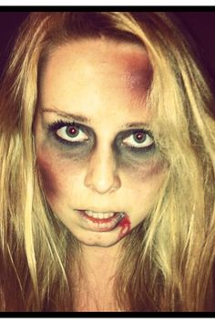 My friends awesome zombie make up for halloween