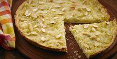 Torta de alho-poró com amêndoas