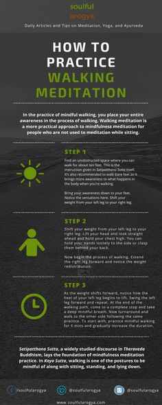 3 Steps to Practice Walking Meditation #Infographics